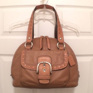Coach Leather Dome Satchel in Light Brown
