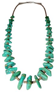Vintage Native American Santo Domingo Turquoise Heishi Necklace