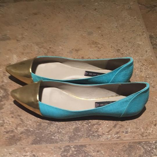 Steven by Steve Madden Bright Turquoise Flats