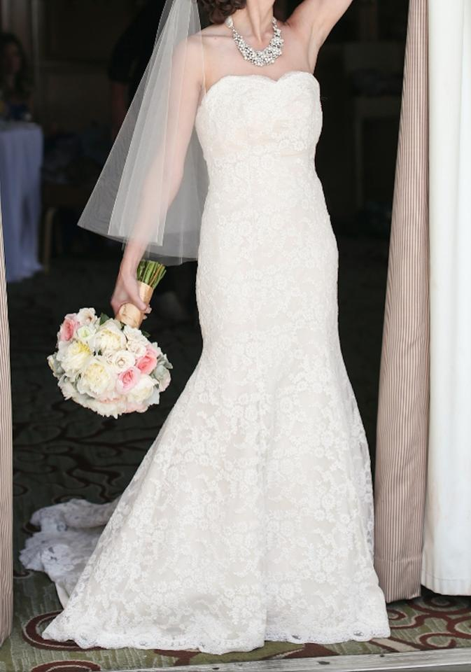 bd31b35a9 Hayley Paige Off White Lace Classic Trumpet Gown Modern Wedding Dress Size  4 (S) ...