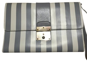 Marc Jacobs White And Gray Clutch