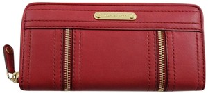 Michael Kors Michael Kors Red Leather Zip Around Continental Moxley Wallet