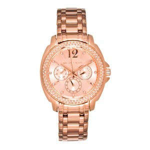 Michael Kors Womens Rose Gold-Tone Cameron Glitz Watch, MK5692