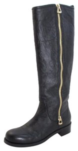 Jimmy Choo Leather Moto Boot Black Boots