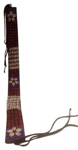 African African cowrie and wood bead Belt