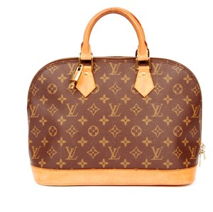 Louis Vuitton Alma Monogram Satchel in Brown