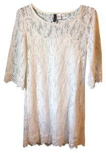 Divided by H&M short dress White Beach Lace Bohemian Boho Coverup on Tradesy