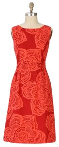 Anthropologie Retro Fitted Cotton Dress