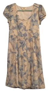 Anthropologie short dress Cream, blue and gray on Tradesy