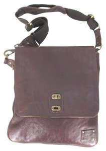 Will Leather Goods Canvas Brown Messenger Bag