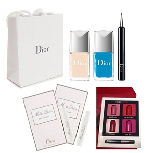 Dior Pastilles Nail Polish box set blue + nude beige with gifts
