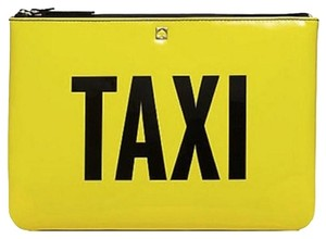 Kate Spade Taxi Yellow and Black Clutch