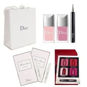 Dior Plumetis Nail Polish box set pink + lavender with gifts