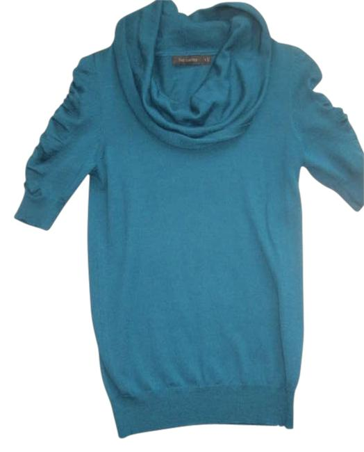Preload https://item2.tradesy.com/images/the-limited-teal-cowl-neck-short-sleeve-blouse-size-4-s-196381-0-0.jpg?width=400&height=650