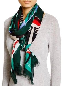 Kate Spade NWT Kate Spade New York Fabled Forest Fox Woodland Oblong Scarf Wrap