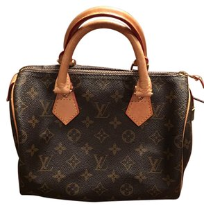 Louis Vuitton Speedy Speedy 25 Monogram Canvas Satchel in Brown