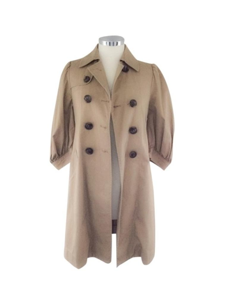 tan beige alexandra trench coat size 4 s tradesy. Black Bedroom Furniture Sets. Home Design Ideas