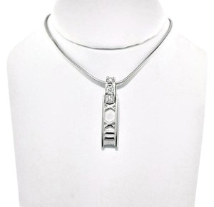 Tiffany & Co. Tiffany & Co. 18k & Diamonds Atlas Roman Numeral Bar Necklace