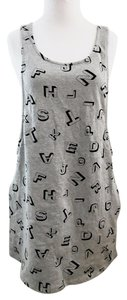 Forever 21 short dress Gray Pockets Alphabet on Tradesy