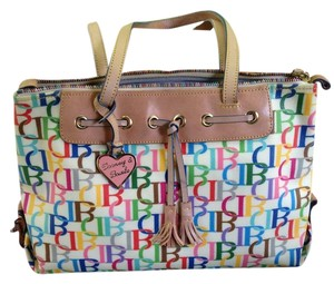 Dooney & Bourke Rainbow Zipper Hard To Find Monogram Shoulder Bag