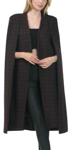 Caribbean Queen Wool Coat Plaid Cape