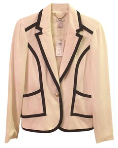 Cache Work Tailored Nautical Ivory with navy piping Blazer