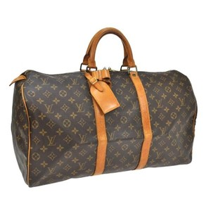Louis Vuitton Keepall Keepall 50 Brown Travel Bag