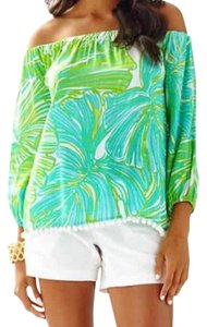 Lilly Pulitzer Top Green and blue