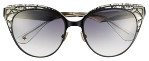 Jimmy Choo Estelle' Metal Cat Eye Crystal Lace 55mm Sunglasses