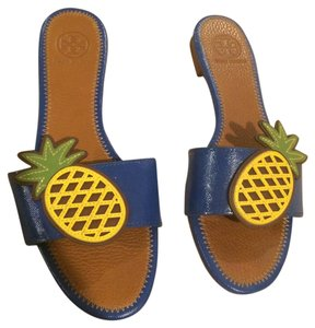 Tory Burch Blue Pineapple Sandals