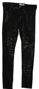 Frame Denim Crinkled Frame Is Skinny Pants black
