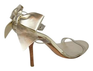 Moschino Leather Bow Ankle Strap GOLD Sandals