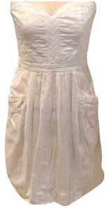 Rebecca Taylor Strapless Metallic Dress