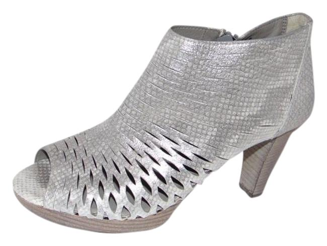 Item - Bravo Bootie Sandals Cut-out Leather Silverwinter White