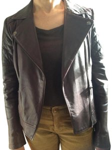 Brown/Plum Leather Jacket