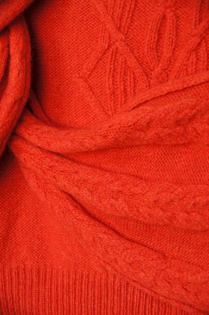 Anthropologie Warm Cable Knit Cowl Neck V-neck Wrap Draped Short Sleeve Fall Knit Sweater
