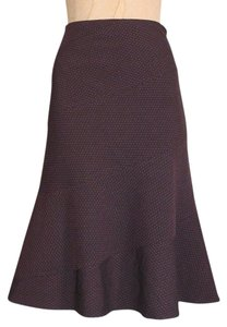 Anthropologie Dotted Elevenses Skirt BROWN