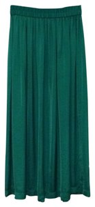 Mango Maxi Skirt Green
