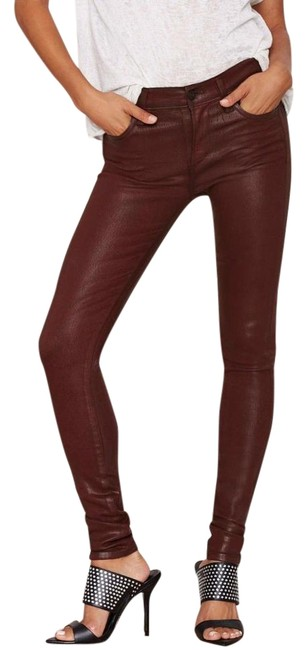 Item - Red Coated Rocket Skinny Jeans Size 27 (4, S)