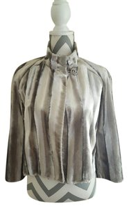 INC International Concepts Great Look Gray Silver Jacket