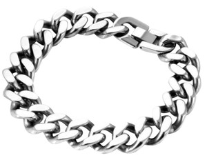 new Mens Cuban Bracelet Solid Stainless Steel Heavy 9