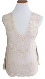 Free People Top Cream/Pink