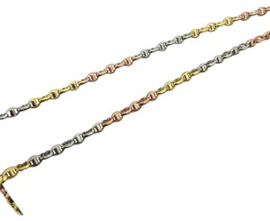 Other 18K Solid Tri-Color Gold Oval Link Chain 16 Inches