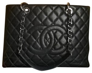 Chanel Gst Shopping Tote Shoulder Bag
