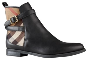Burberry Ankle Black brown tan Boots
