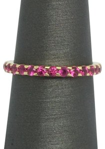 Other 14K Yellow Gold Natural Ruby Eternity Band