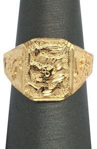 Other 18K Solid Yellow Gold Dragon Ring