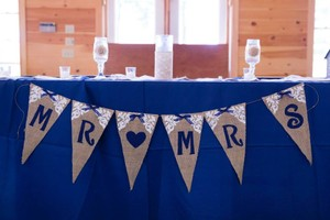 Mr And Mrs Burlap Wedding Banner