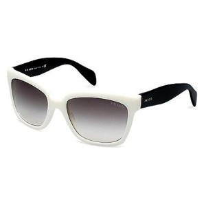Prada NEW PRADA SUNGLASSES (SPR 07P) WHITE BLACK, GREY LENS MADE IN ITALY