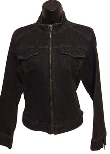 Chico's Zip Black Denim Jacket